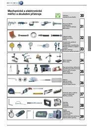 Mechanické a elektronické měřicí a zkušební přístroje