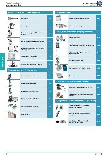 HAHN+KOLB-Toolcatalog 2011/12 – Testing equipment