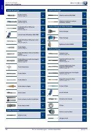 Outils d'usinage Aperçu des chapitres 2010/11