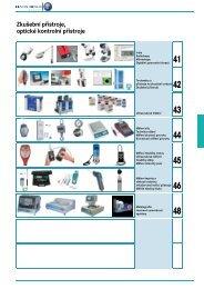 Zkušební přístroje, optické kontrolní přístroje