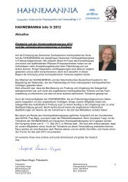 Infoblatt 3/2012 - Hahnemannia