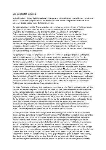Der Sonderfall Schweiz - Haidvogls Sperberauge
