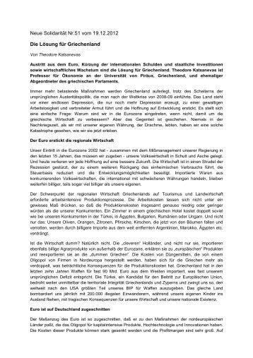Neue Solidarität Nr.51 vom 19.12.2012 Die Lösung für Griechenland
