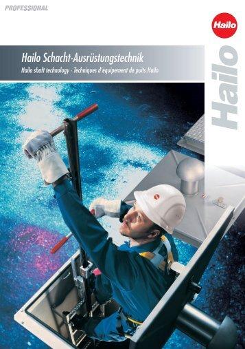 Katalog Schachtausrüstungstechnik - Hailo Professional