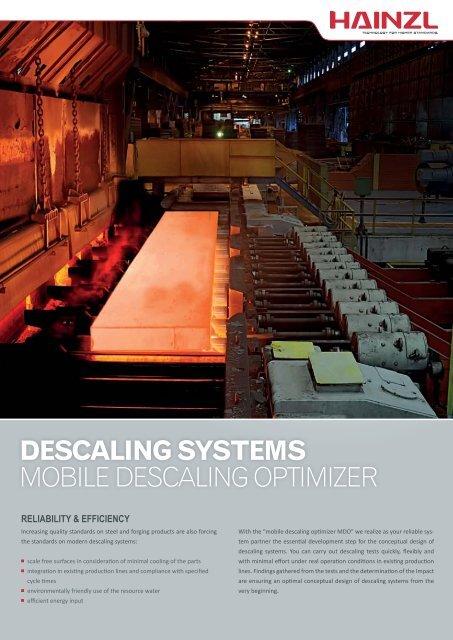 DESCALING SYSTEMS MOBILE DESCALING OPTIMIZER - Hainzl ...