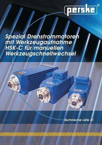 Spezial Drehstrommotoren mit Werkzeugaufnahme HSK-C ... - Hainzl