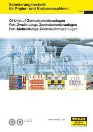 Schmierungstechnik für Papier- und Kartonmaschinen - Hainzl