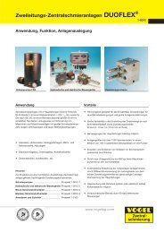 Zweileitungs-Zentralschmieranlagen DUOFLEX ® - Hainzl