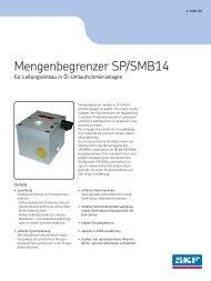 Mengenbegrenzer SP/SMB14 - SKF.com