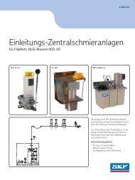 Einleitungs-Zentralschmieranlagen