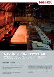 Entzunderungssysteme - Hainzl Industriesysteme
