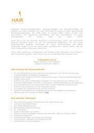 Klassische Friseur-Dienstleistungen, Wellness-Angebote und ...