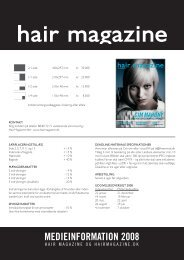 MEDIEINFORMATION 2008 - Hair Magazine