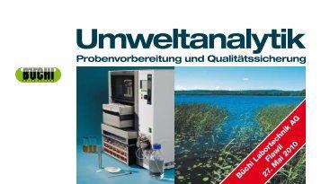 Umweltanalytik Probenvorbereitung und ... - BÜCHI Labortechnik