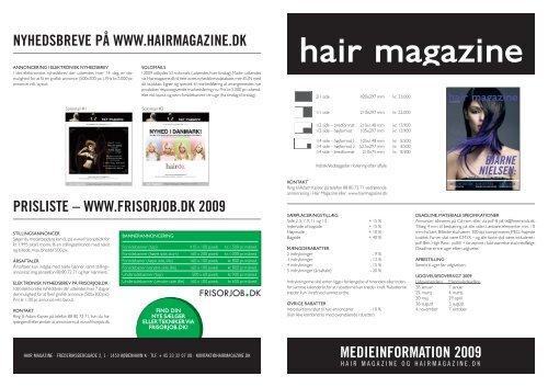 MEDIEINFORMATION 2009 - Hairmagazine.dk