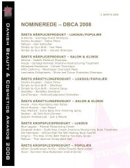 [pdf] nominerede – dbca 2008 - Hair Magazine