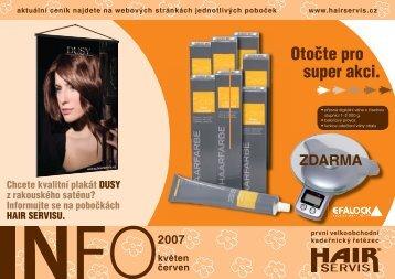 květen - červen 2007 - Hair servis