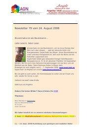Newsletter 79 vom 27.08.08