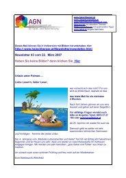Newsletter 43 vom 22.03.07 - Institut für Geistheilung und ...
