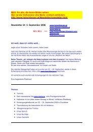 Newsletter 24 vom 04.09.06 - Institut für Geistheilung und ...