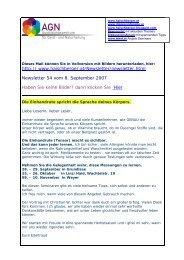 Newsletter 54 vom 09.09.07