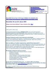 Newsletter 38 vom 29.01.07