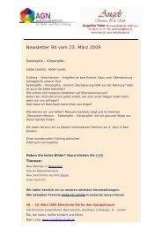 Newsletter 94 vom 23.03.09