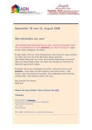 Newsletter 78 vom 19.08.08
