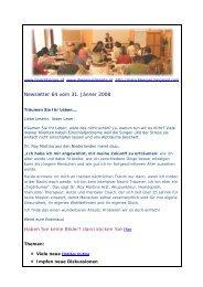 Newsletter 64 vom 31.01.08