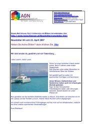 Newsletter 44 vom 23.04.07 - Institut für Geistheilung und ...