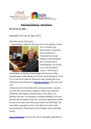 Newsletter 163 vom 23.09.13