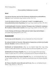 PD Dr. Wolfgang Bialas Wissenschaftliche Publikationen (Auswahl ...