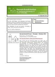 Newsletter vom 25.9.2012 - Hannah-Arendt-Institut Dresden