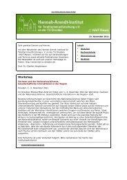 Newsletter vom 23.11.2011 - Hannah-Arendt-Institut Dresden