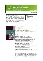 Newsletter vom 30.10.2012 - Hannah-Arendt-Institut Dresden