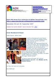 Newsletter 56 vom 30.09.07