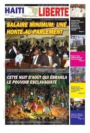 SALAIRE MINIMUM: UNE HONTE AU PARLEMENT - Haiti Liberte