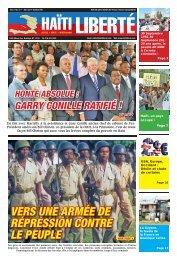 vers une armée de répression contre le peuple - Haiti Liberte