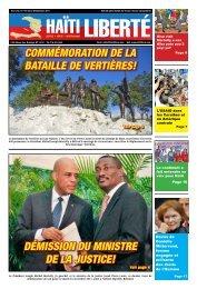 Démission Du ministre De la justice! commémoration ... - Haiti Liberte