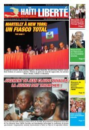 un fiasCo total - Haiti Liberte