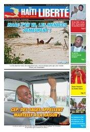 ISAAC S'EN VA, LES MENACES DEMEURENT ! - Haiti Liberte