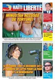 minustaH accusée De torture! - Haiti Liberte