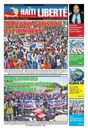 LE RETOUR D'ARISTIDE EST IMMINENT ! - Haiti Liberte