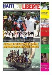 PAS DE 200 GDES POUR LES OUVRIERS - Haiti Liberte