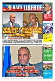 MArtelly « plonge dAns lA dictAture » - Haiti Liberte