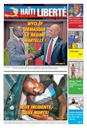 Wyclef démasque le régime martelly ! deux incidents ... - Haiti Liberte