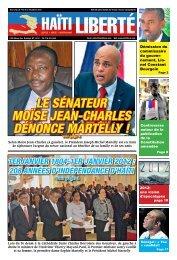 Le sénateur Moïse Jean-CharLes dénonCe MarteLLy ! - Haiti Liberte