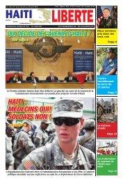 HAITI : MÉDECINS OUI! SOLDATS NON ! - Haiti Liberte
