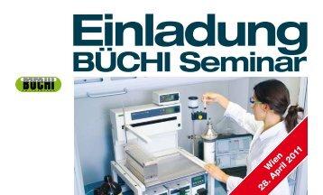 Einladung BÜCHI Seminar - BÜCHI Labortechnik