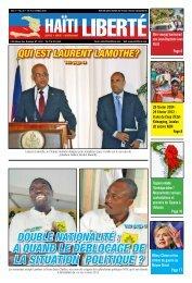 a QuanD Le DébLocage De La situation poLitiQue ? - Haiti Liberte